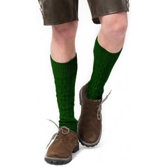 Tiroler-Bierfeest- lederhose sokken groen heren en dames
