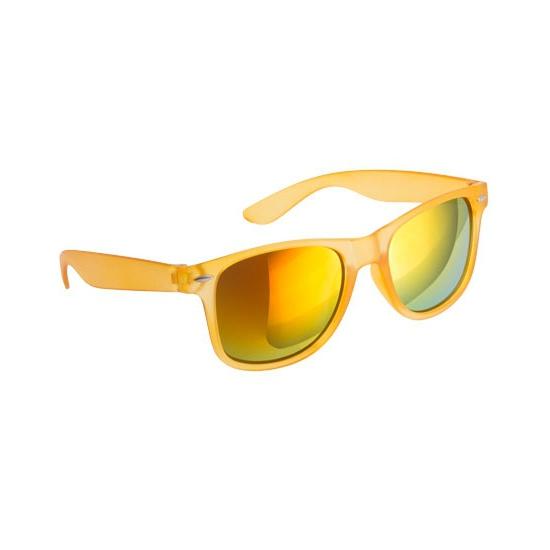 Trendy zonnebrillen geel spiegelglas