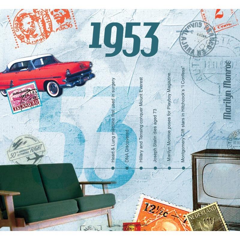 Verjaardag CD-kaart met jaartal 1953