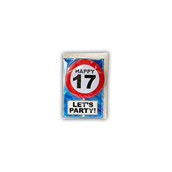 Verjaardagskaart 17 jaar