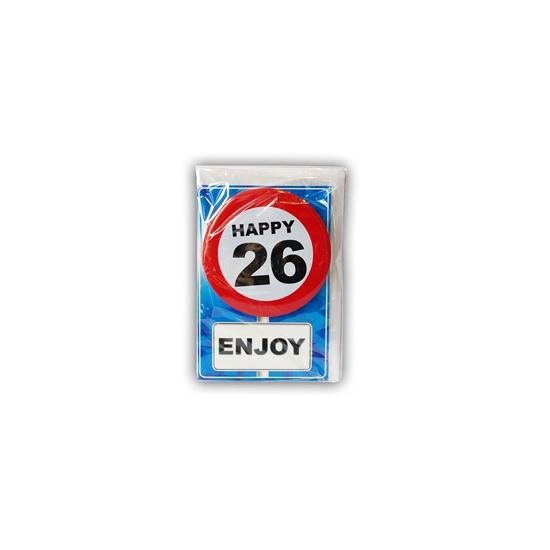 Verjaardagskaart 26 jaar