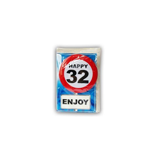 Verjaardagskaart 32 jaar