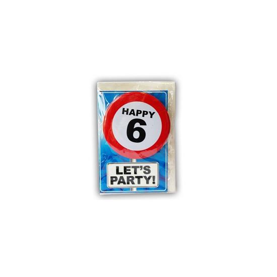 Verjaardagskaart 6 jaar