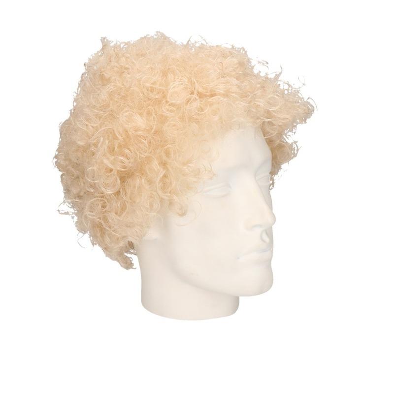Verkleed disco pruik blond voor volwassenen