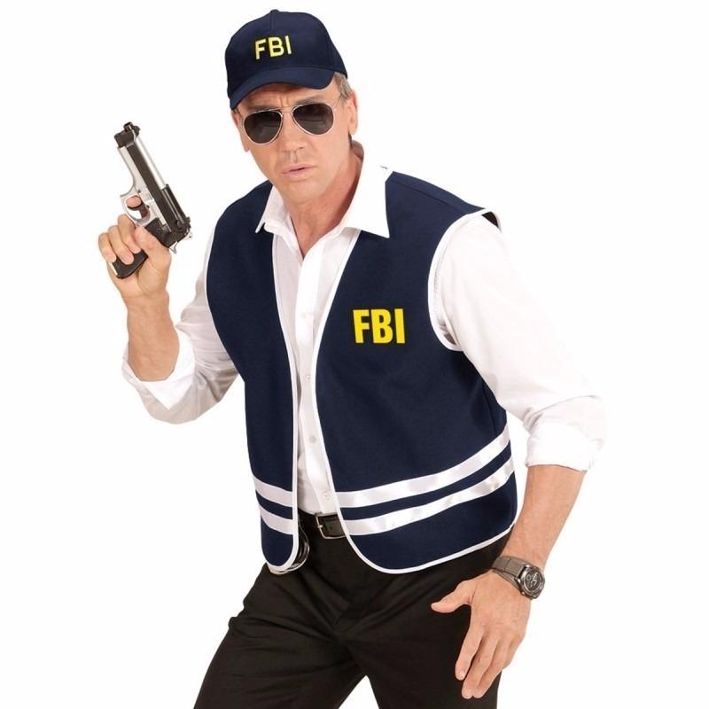 Verkleed politie FBI agent vest en petje voor volwassenen