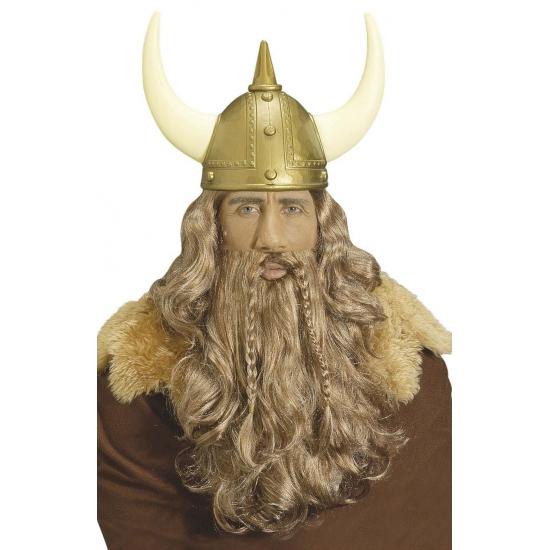 Viking pruik en baardset