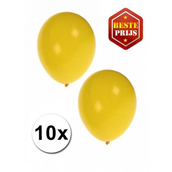Voordelige gele ballonnen 10 stuks