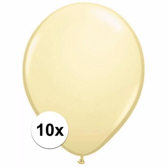 Voordelige ivoren ballonnen 10 stuks