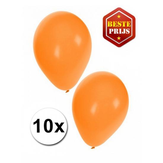 Voordelige oranje ballonnen 10 stuks