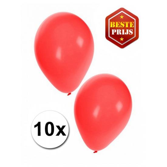 Voordelige rode ballonnen 10 stuks