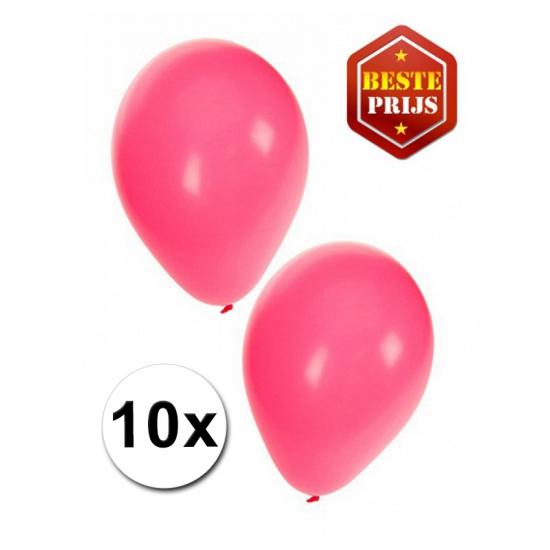 Voordelige roze ballonnen 10 stuks
