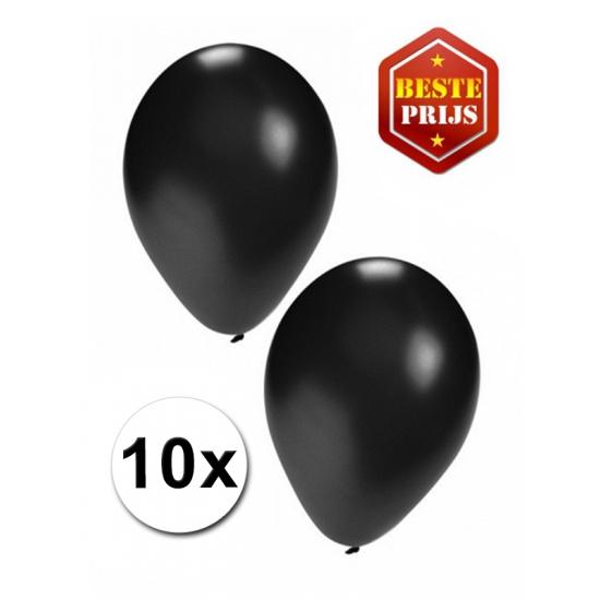 Voordelige zwarte ballonnen 10 stuks