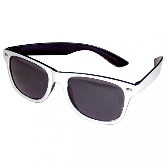 Vrolijke zwart/witte feestbril