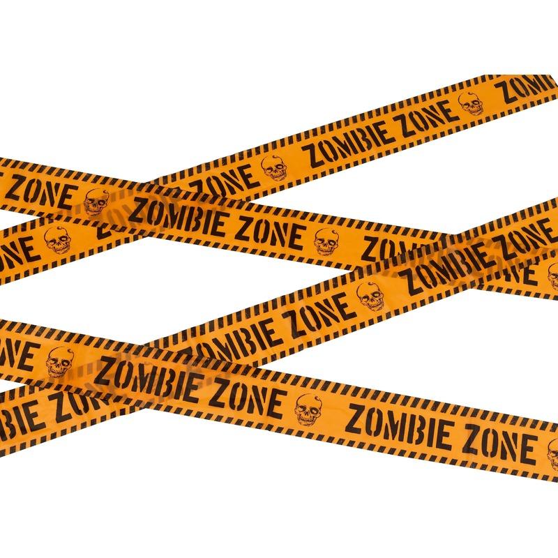 Waarschuwing afzetlint 6 meter oranje