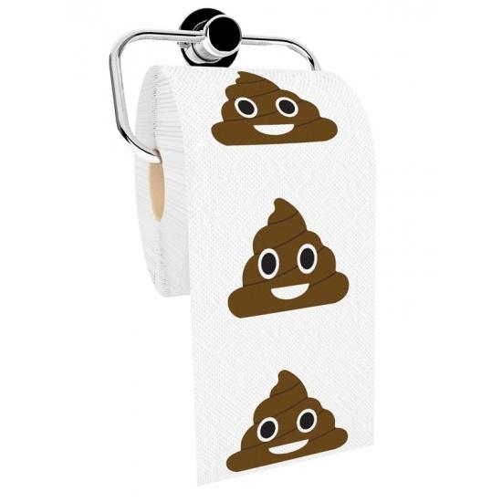 WC papier emoticon poep