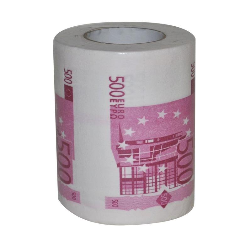 WC rol met Euro briefjes van 500