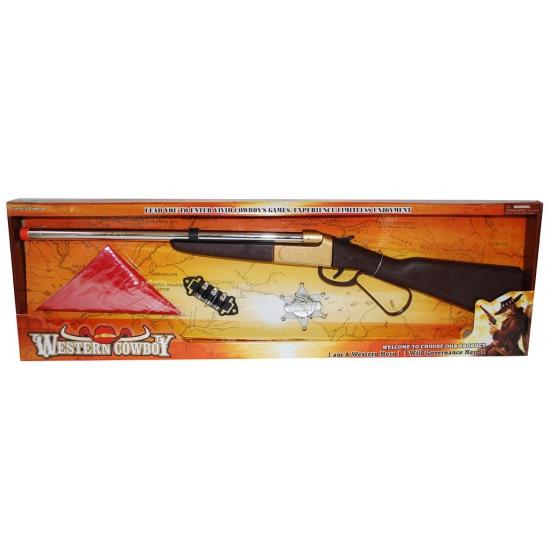 Western set met geweer 60 cm