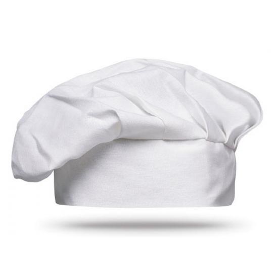 Witte chef muts voor volwassenen