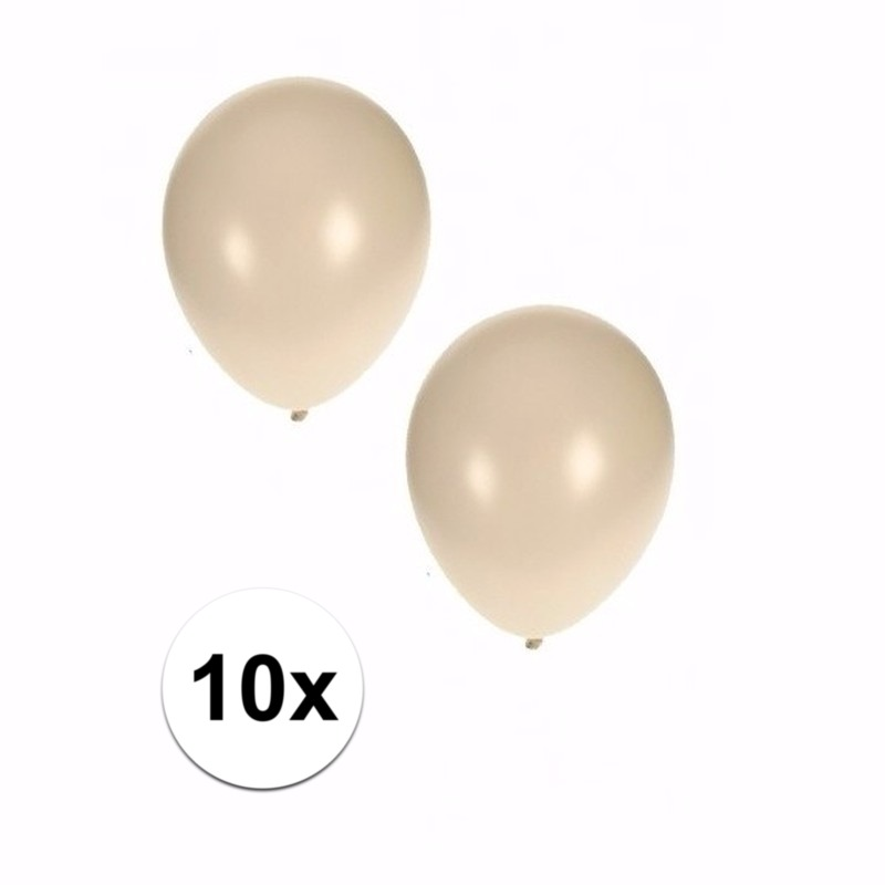 Witte grote ballonnen 10 stuks