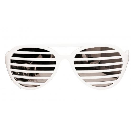 Witte lamellen bril