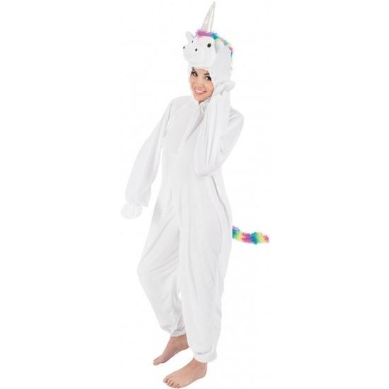 Witte/regenboog eenhoorn Rainy onesie/pak voor dames