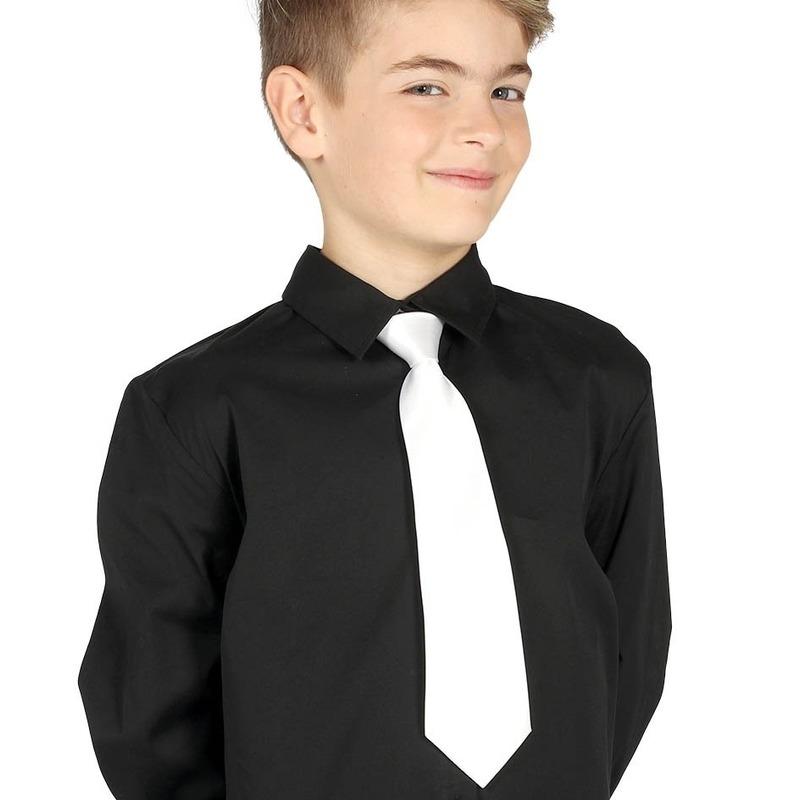 Witte stropdas 30 cm