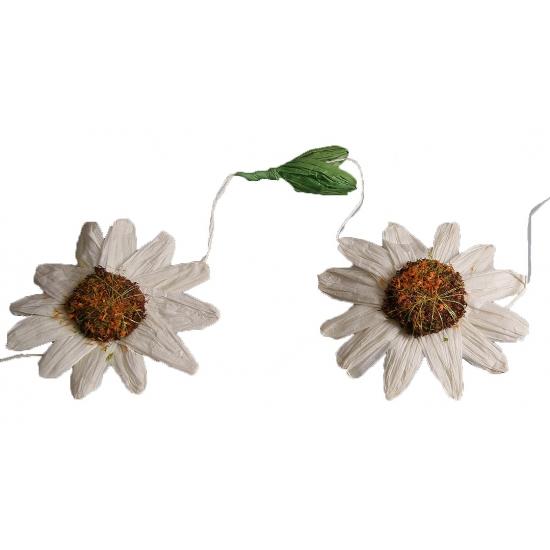 Witte zonnebloemen slingers