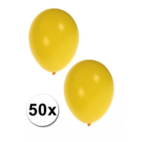 Zakje met 50 gele feest ballonnen