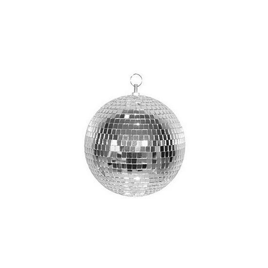 Zilveren discobal 30 cm