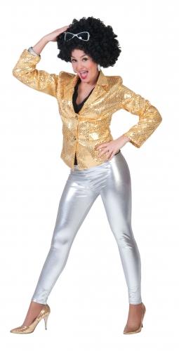 Zilveren legging glimmend