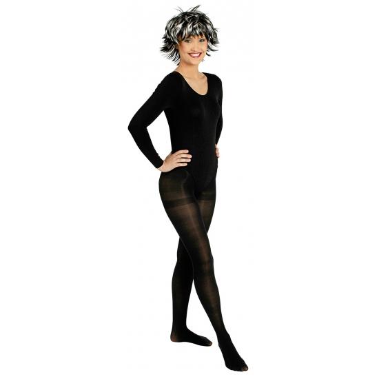 Zwart body pakje verkleedaccessoires voor dames