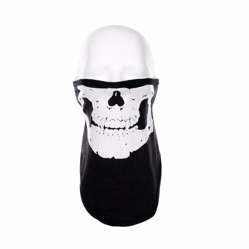 Zwart skelet helm biker masker voor volwassennen