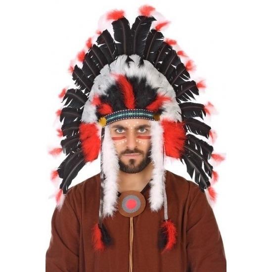 Zwart-witte indianen tooi voor heren