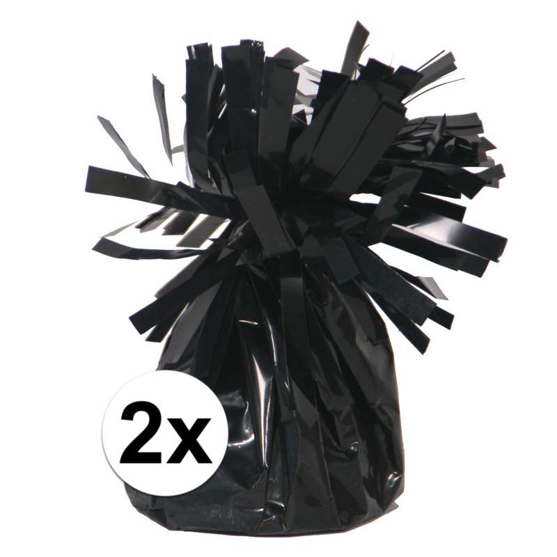 Zwarte ballonnen gewichten 2 stuks