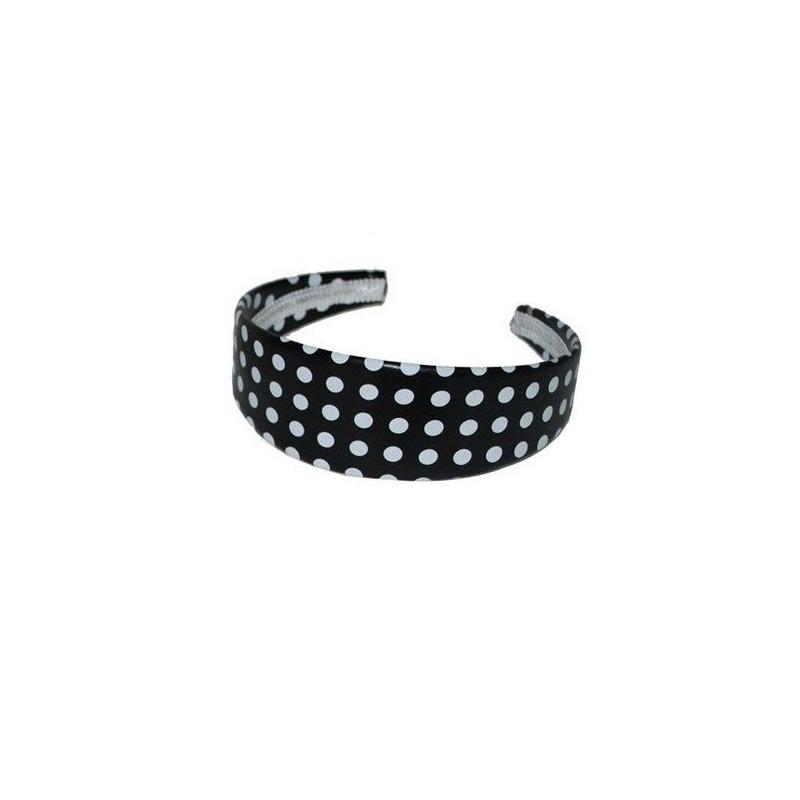 Zwarte diademen/haarbanden met stippen