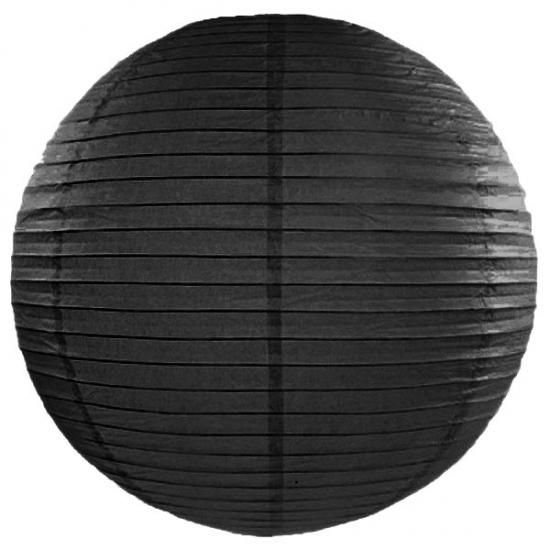 Zwarte lampion rond 50 cm