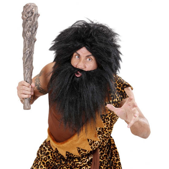 Zwarte zwerver baard met snor