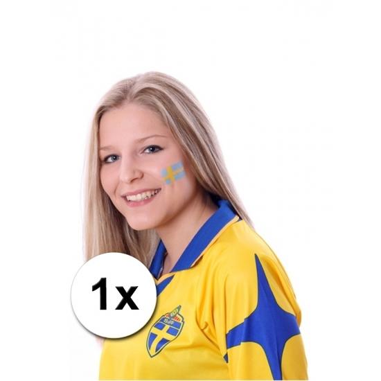 Zweedse vlag tattoeage
