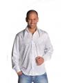 Wit glitter overhemd heren