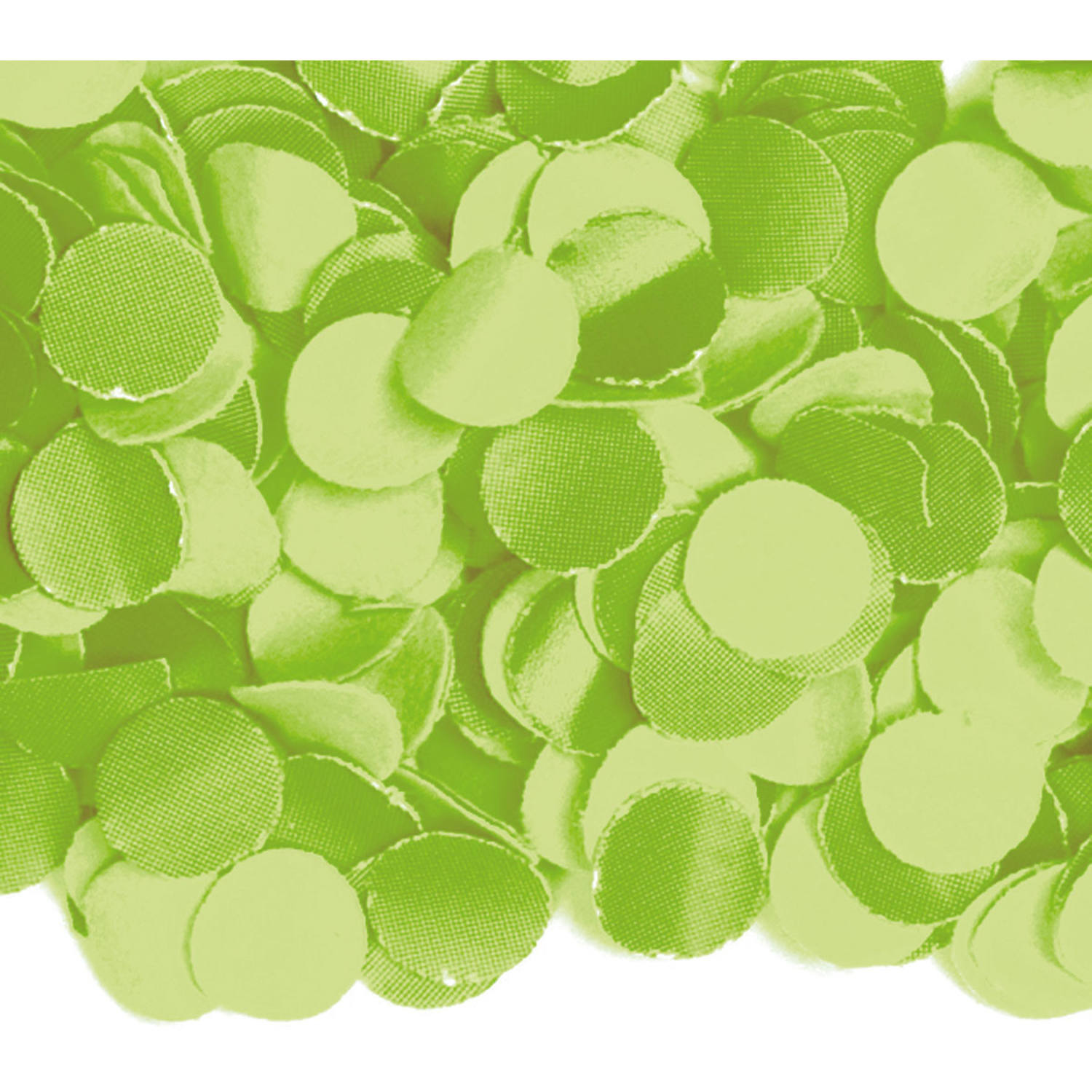 100 gram party confetti kleur lime