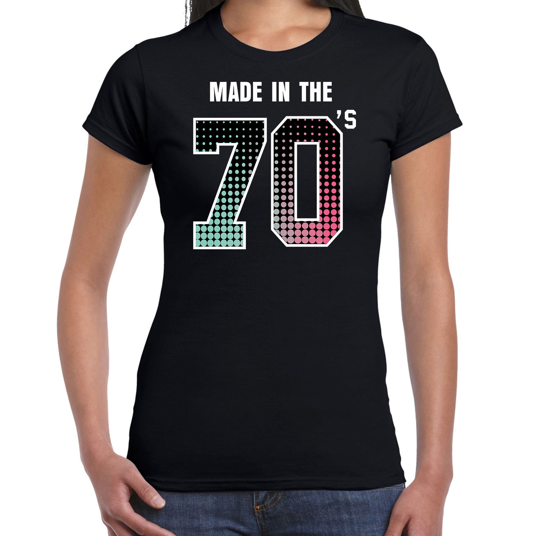 Feest shirt made in the 70s t-shirt - outfit zwart voor dames