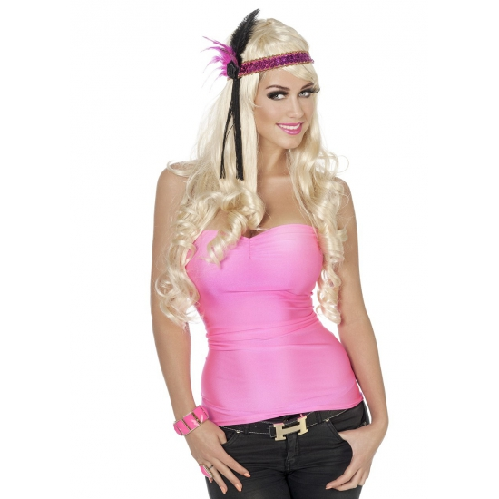 Neon rozeen dames top